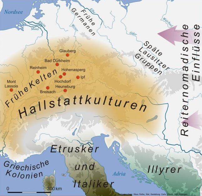 Keltische Und Germanische Siedlungsgebiete